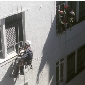 High Rise window painting